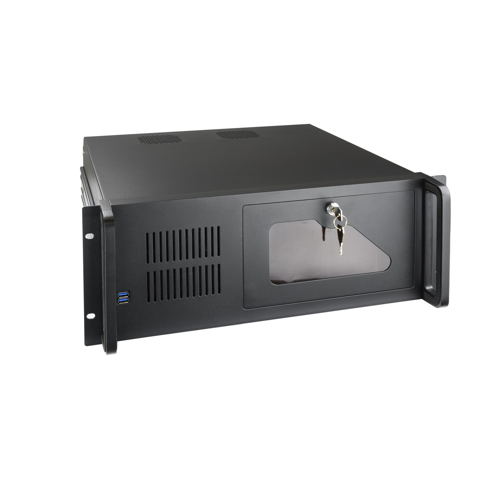 """CAJA RACK IPC TOOQ RACK-406N-USB3 4U 19"""" ATX NEGRO"""