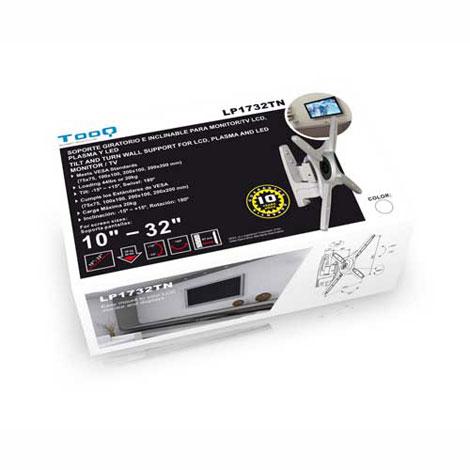 SOPORTE MONITOR/TV TOOQ LP1732TN-B 10-32 GIRA INCL . NEGRO