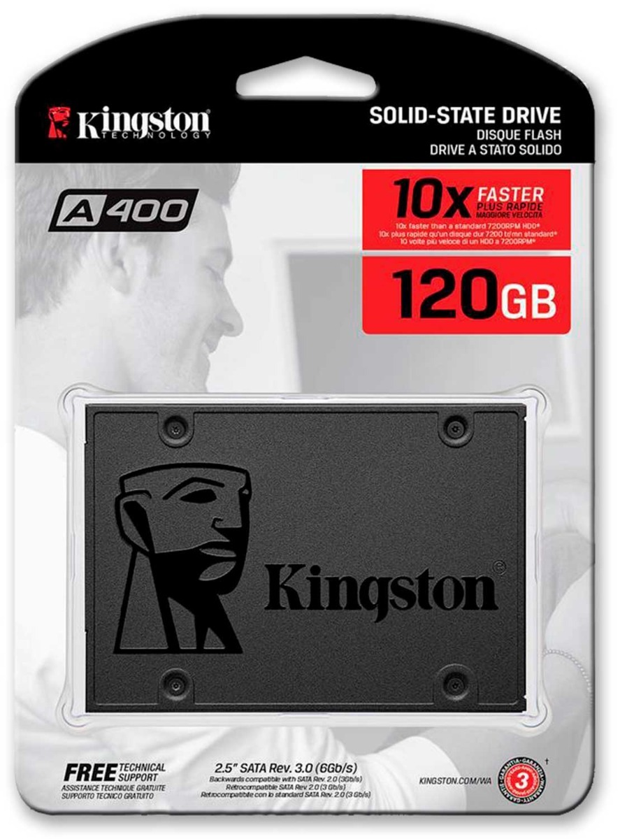 H.D. SSD 120GB KINGSTON SA400S37/120G